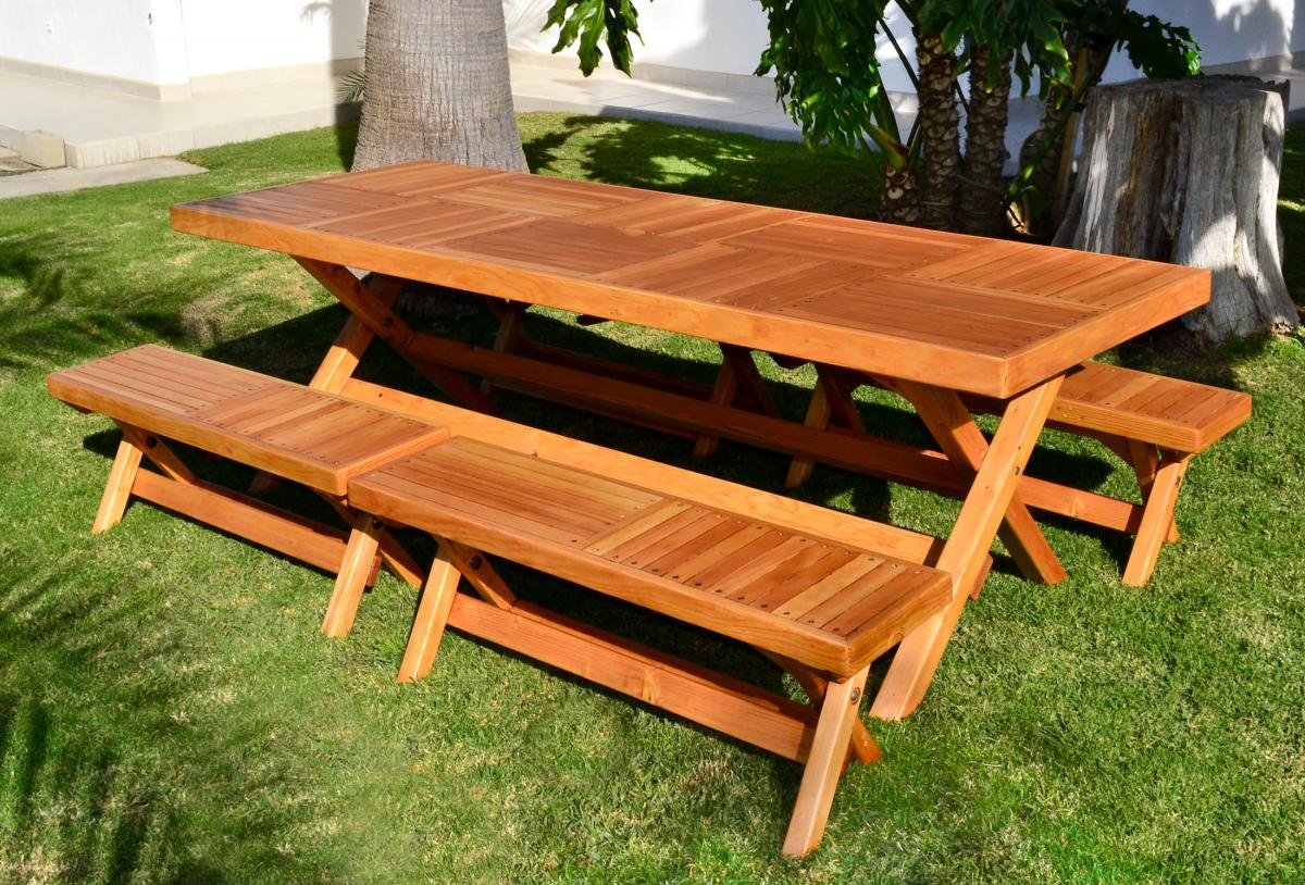 Rectangular Folding Picnic Table Options 96 L 35 W