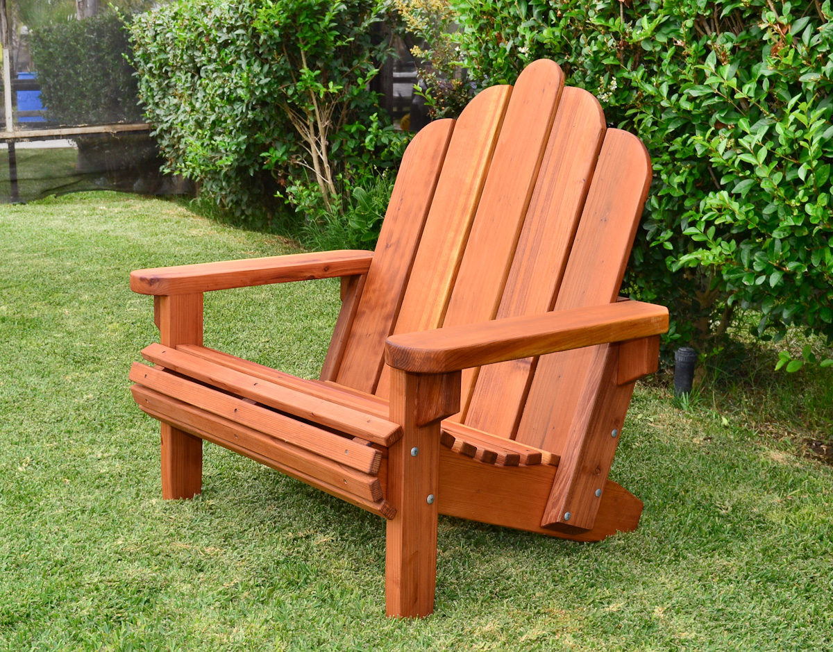 Picture of: Redwood Adirondack Chair Custom Wood Adirondack Chairs