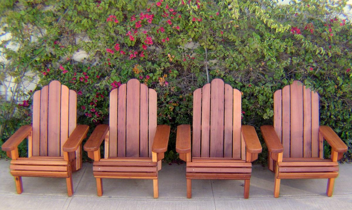 redwood adirondack chair: custom wood adirondack chairs
