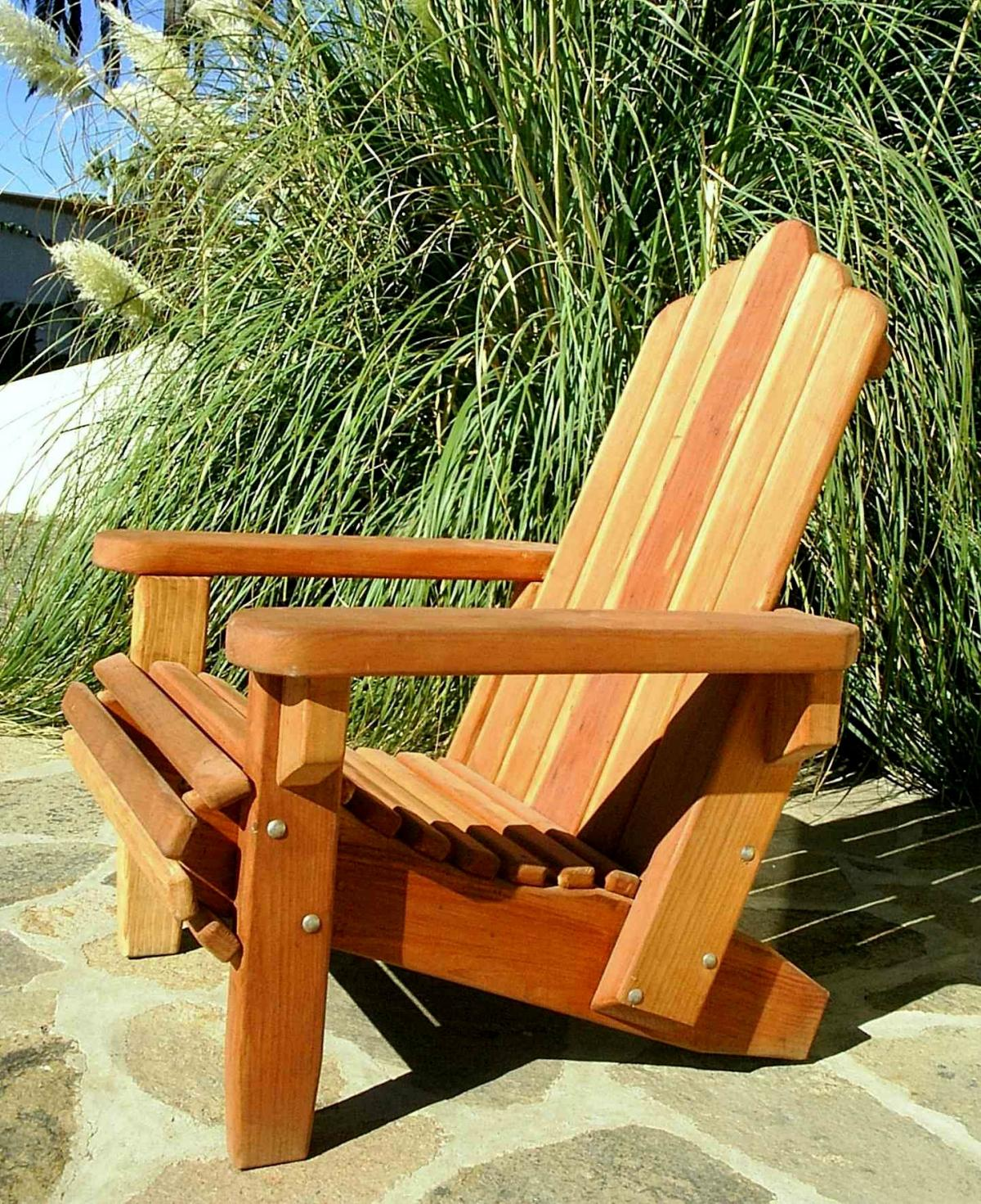 Redwood Adirondack Chair Custom Wood Adirondack Chairs