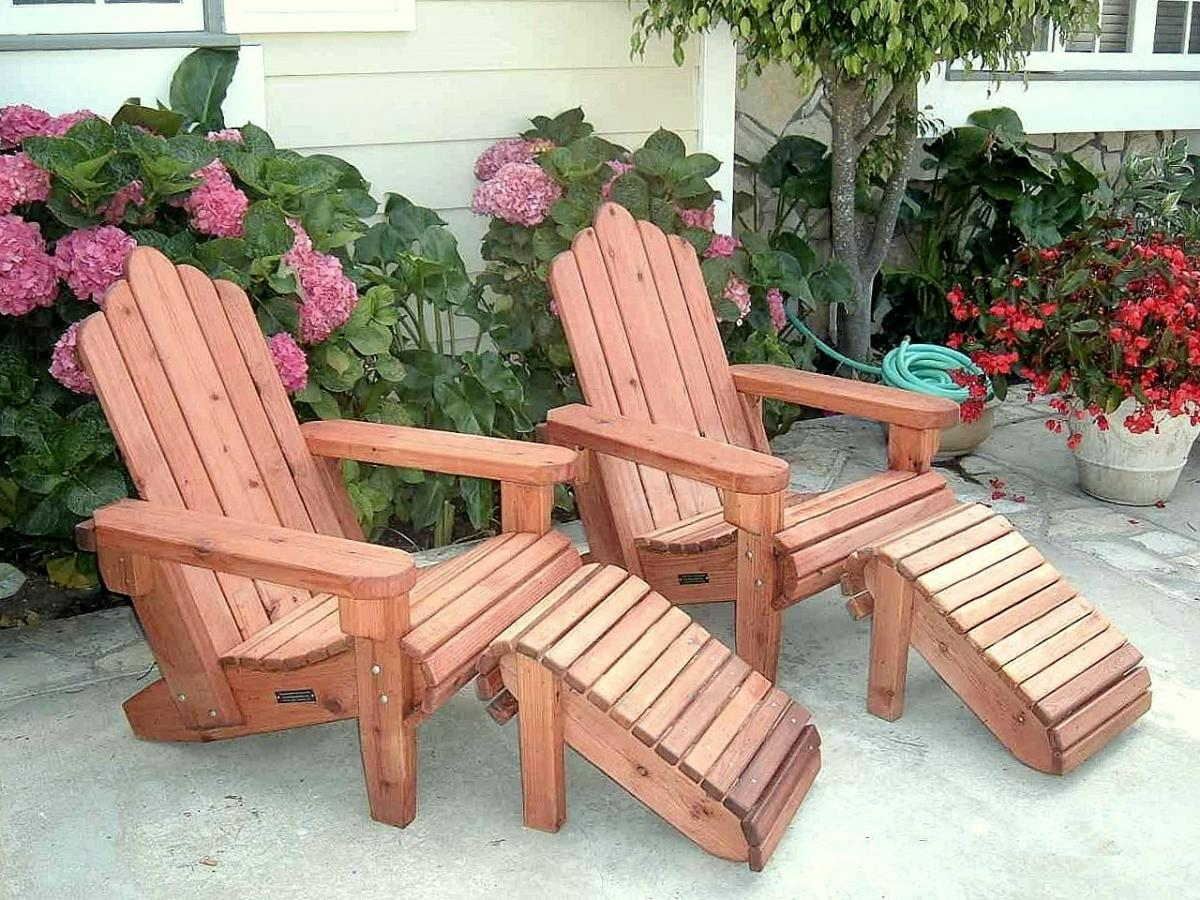 Incroyable ... Adirondack Chairs And Ottomans (Options: Standard Size, Mature Redwood,  No Cushion,