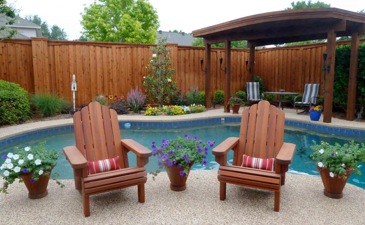 Genial Redwood Adirondack Chair