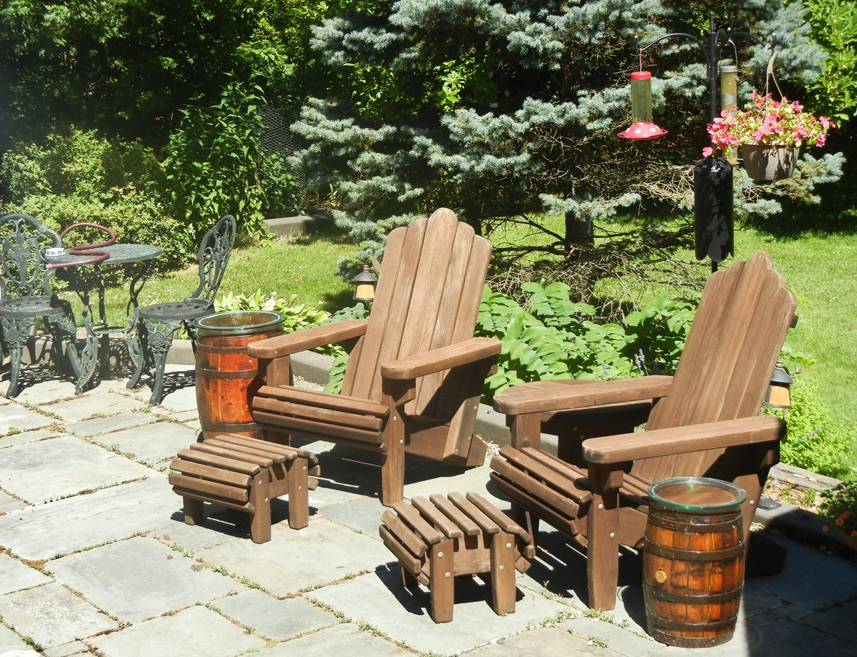 Exceptionnel ... Adirondack Chairs (Options: Standard Size, Old Growth Redwood, No  Cushion, ...