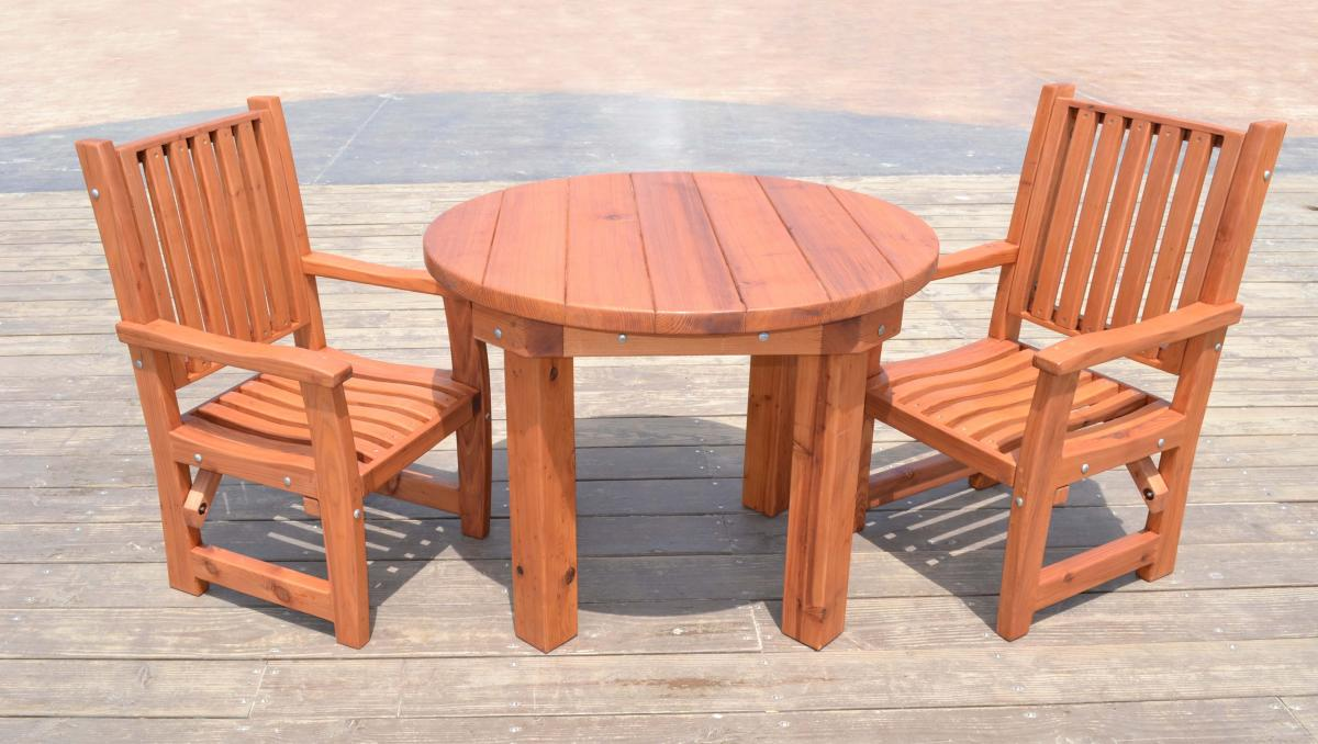 Durable Outdoor Patio Table Custom Wood Round Tables