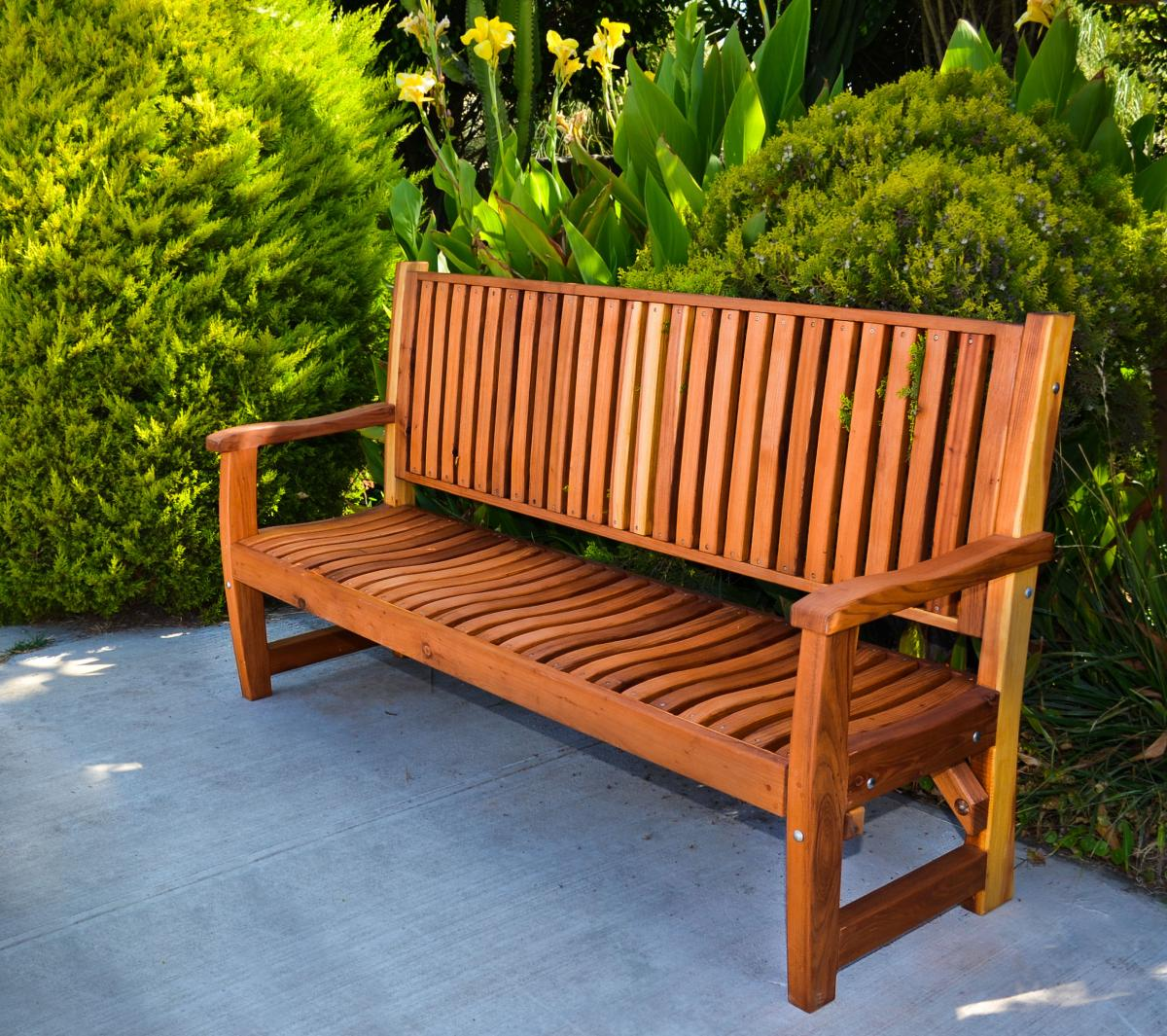 Ruth Wooden Bench Forever Redwood