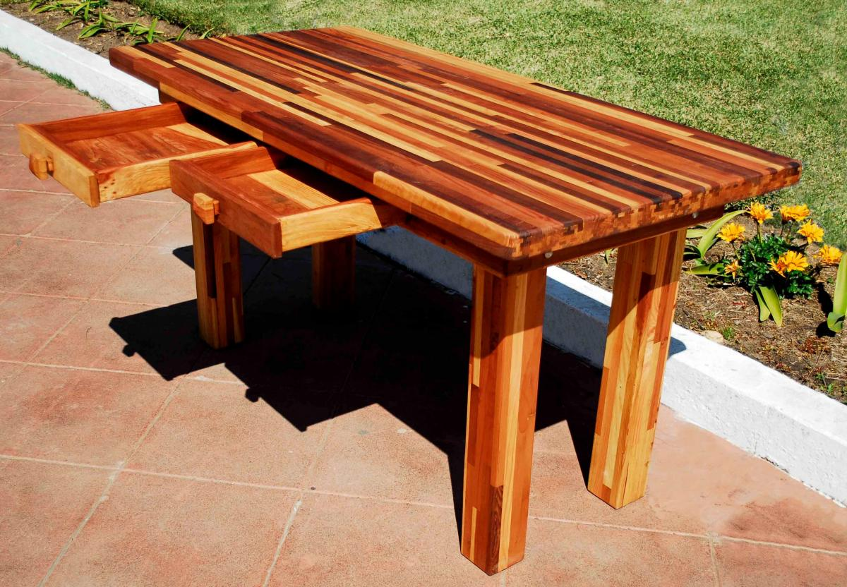 Redwood Patio Table Custom Made Redwood Dining Tables