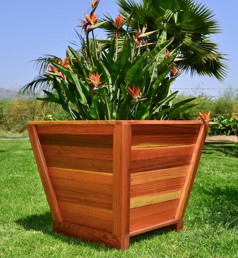 The Tapered Planters Built To Last Decades Forever Redwood