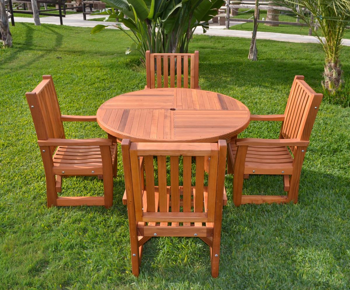 round wooden card table custom redwood tables for sale. Black Bedroom Furniture Sets. Home Design Ideas