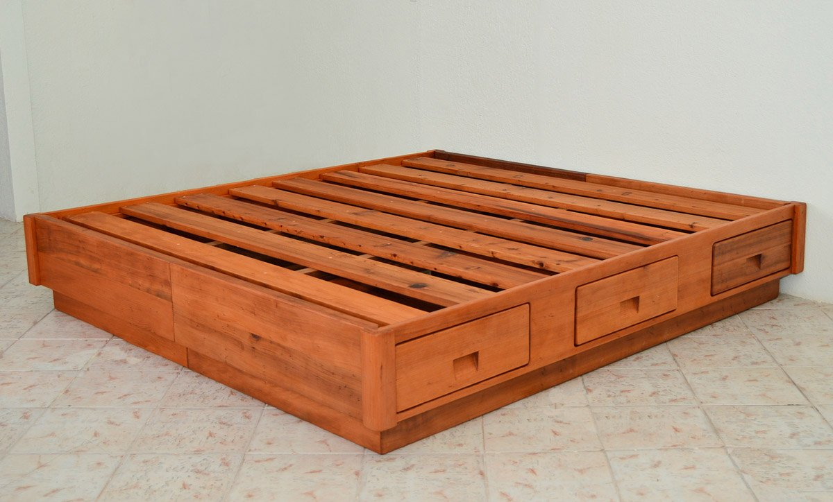 The Chest Bed Options King Size Old Growth Redwood No Headboard