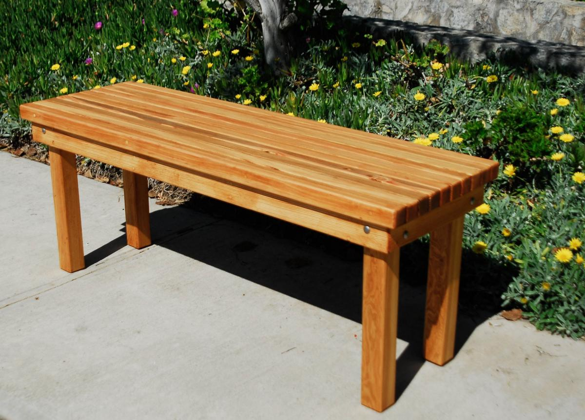 ... Wood Patio Bench (Options: 4 1/2 Ft X 17 3/4