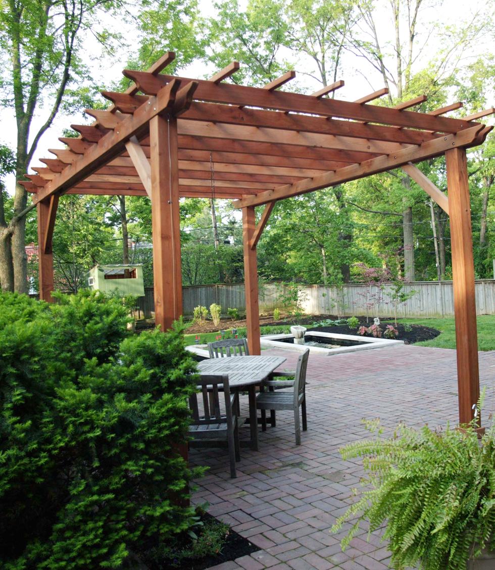 Pergolas Backyard And: Wooden Garden Pergolas, Custom Made From Redwood