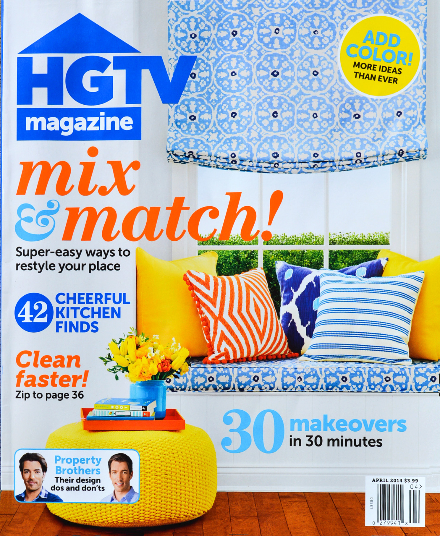 HGTV Magazine, April, 2014: Cover