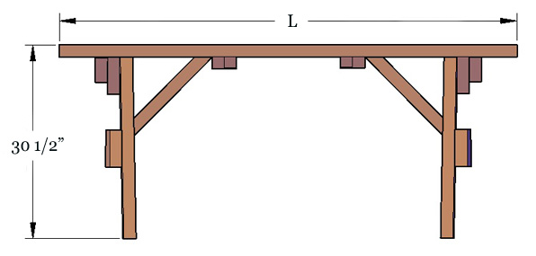 Forever Wood Picnic Tables Built To Last Decades Forever Redwood - Picnic table legs for sale