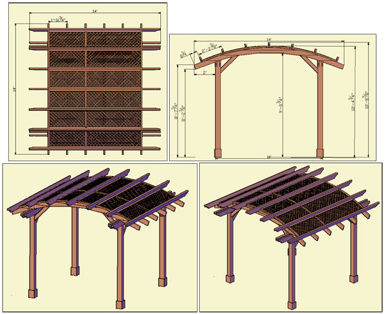 curved roof pergola plans