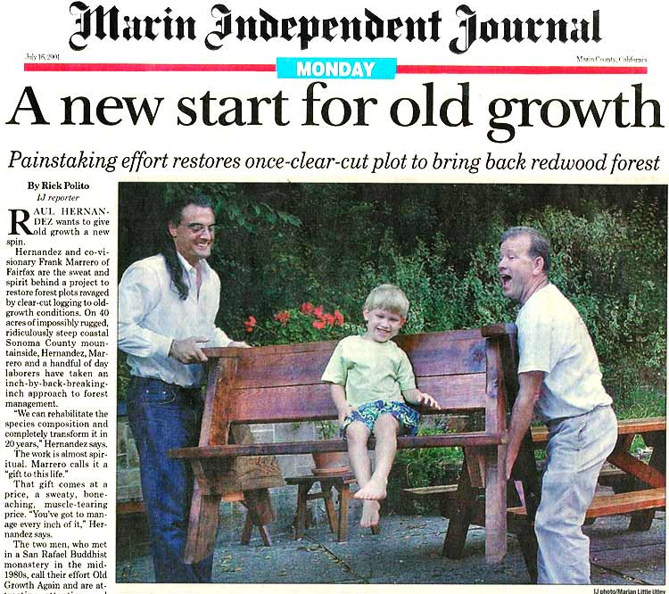 Marin Independent Journal, July 25, 2001: p1a