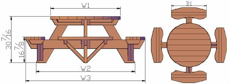 FOOT PICNIC TABLE PLAN « PICNIC TABLES