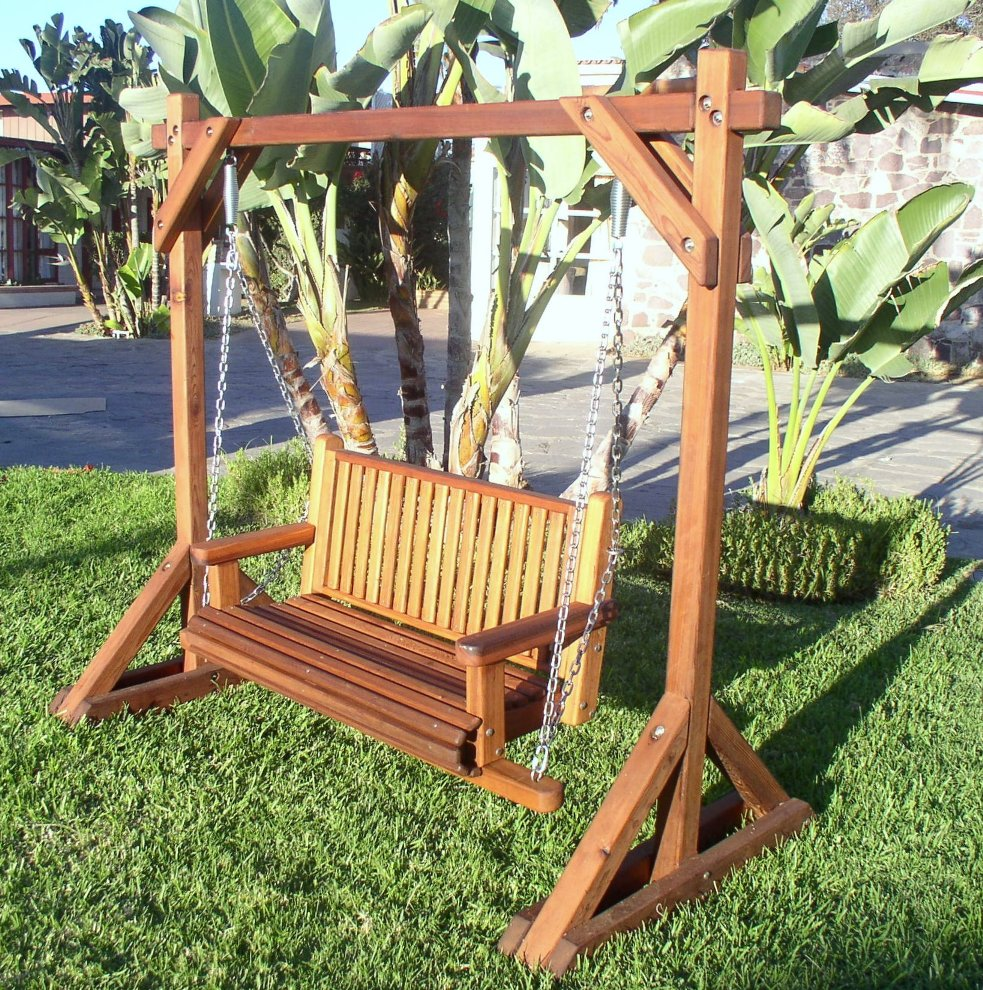 Redwood Patio Furniture Swing Trend Home Design And Decor
