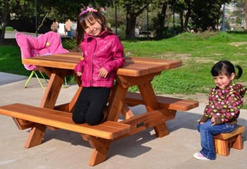 Kid's Picnic Tables (Attached Benches)