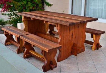 Trestle Outdoor Dining Tables