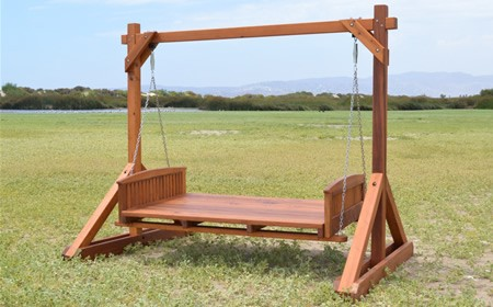 Jhoola swing set forever redwood for Garden jhoola designs