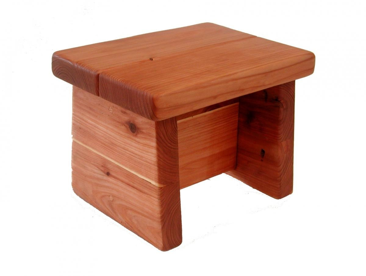 Tiny Foot Stool Wooden Stools Forever Redwood