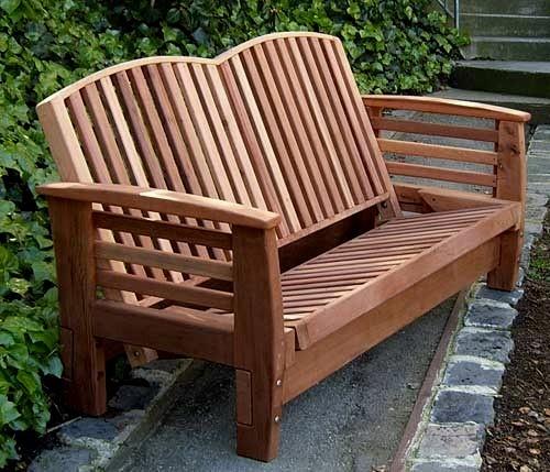 Reclining Loveseat Outdoor Loveseat Forever Redwood