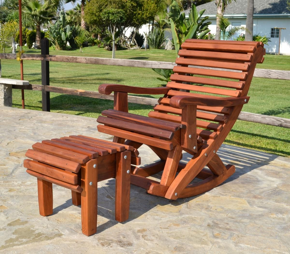 Ensenada Highback Rocking Chair - Rocking Chairs  Forever Redwood
