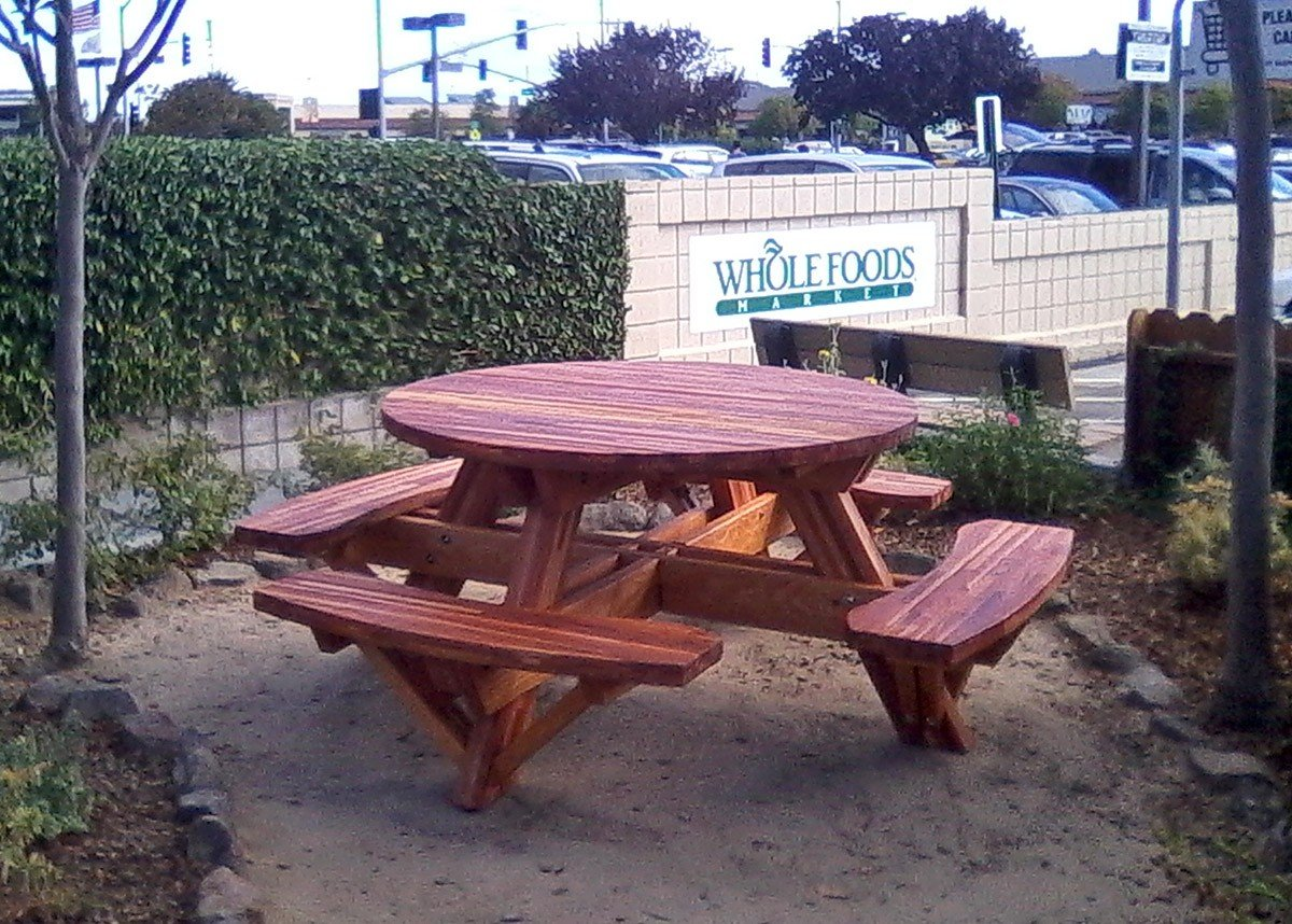 Round Picnic Tables With Attached Benches Built To Last