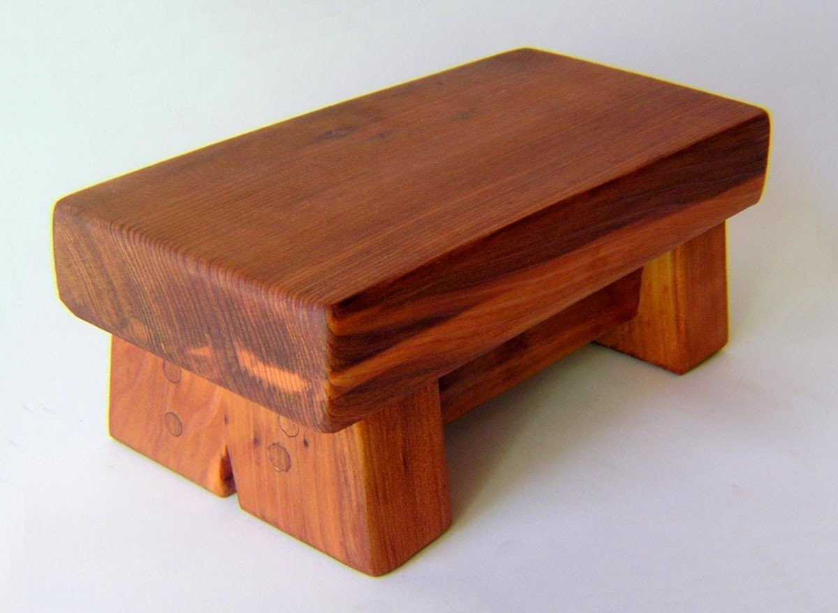 Mini Foot Stool Wooden Stools Forever Redwood