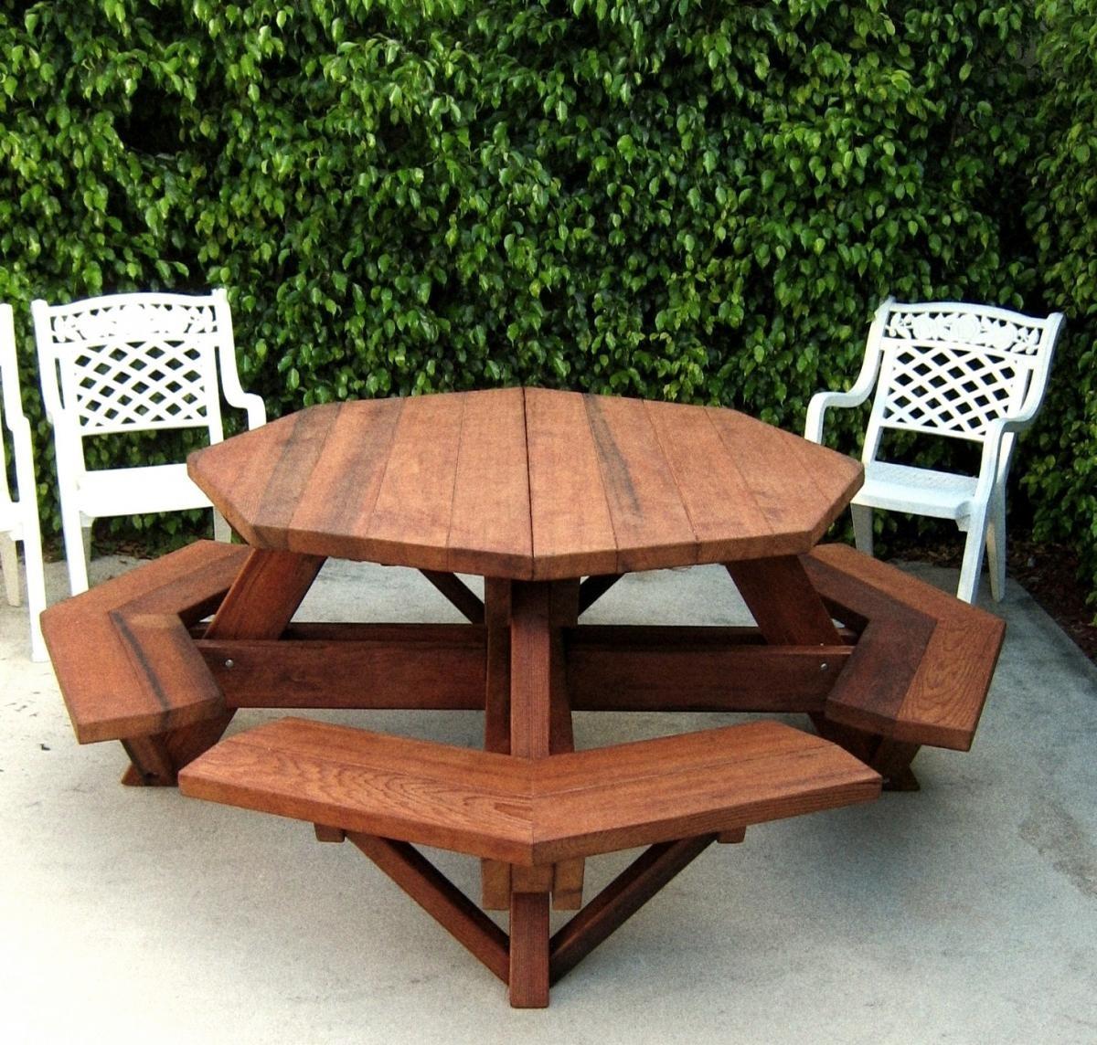 Wood plan get octagonal picnic table plans nz for Octagon picnic table blueprints