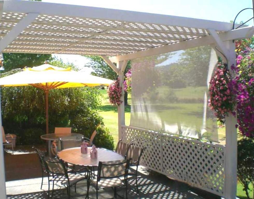 enclosed garden pergolas. Black Bedroom Furniture Sets. Home Design Ideas