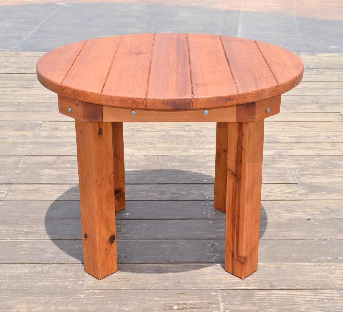 Round Patio Tables Built To Last Decades Forever Redwood