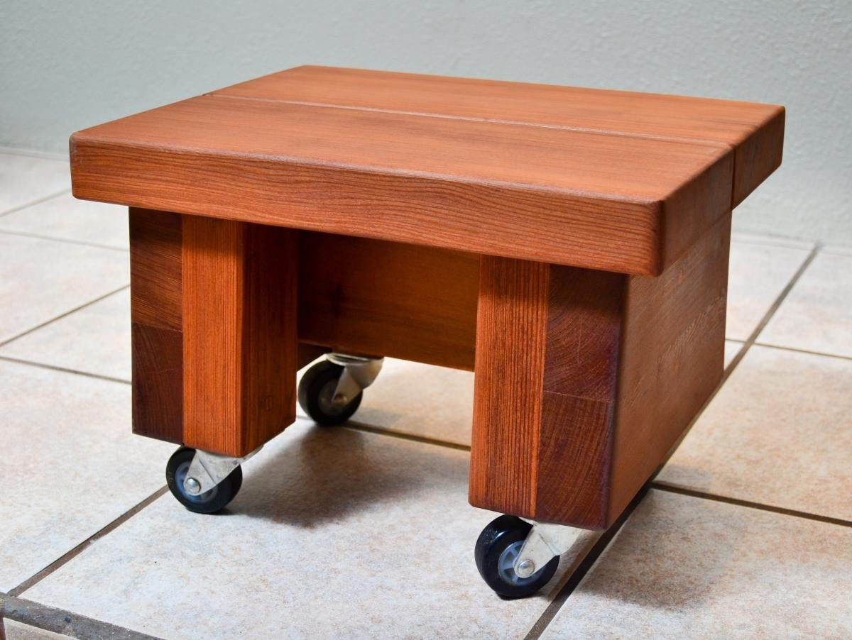 Small Foot Stool Wooden Stools Forever Redwood