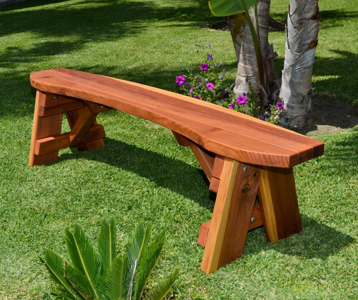 Round Picnic Benches Built To Last Decades Forever Redwood