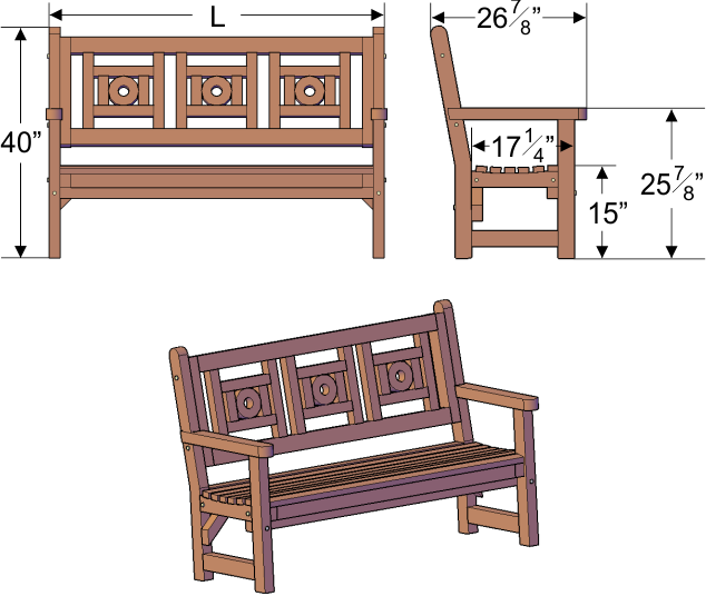 Redwood Bench Outdoor Furniture