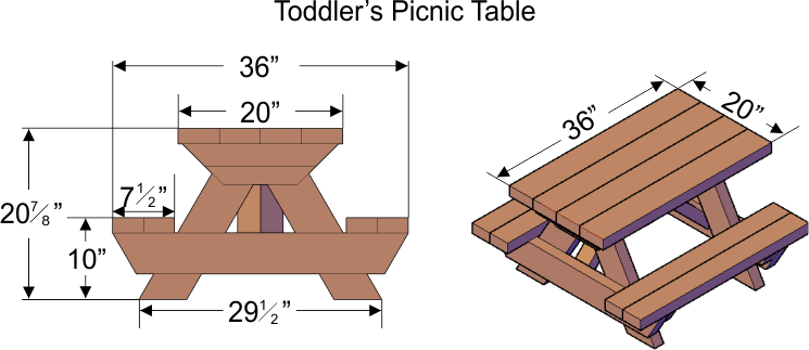 Pics Photos - Picnic Table Dimensions Tables