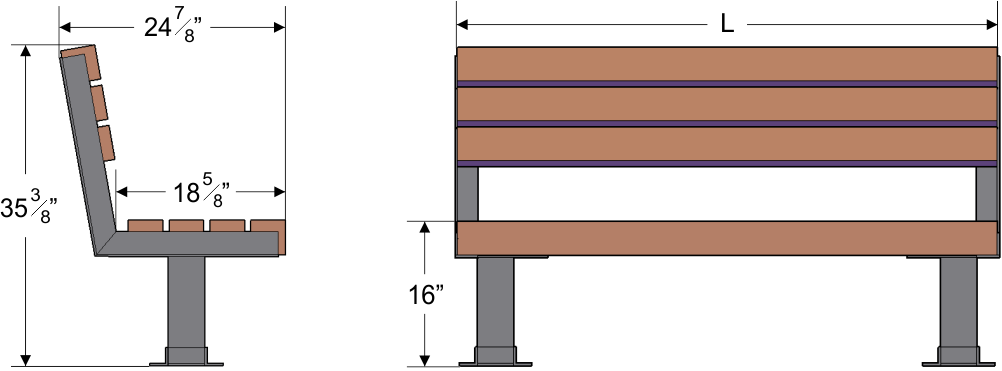 backless veterans memorial bench dimensions all benches are 12 h