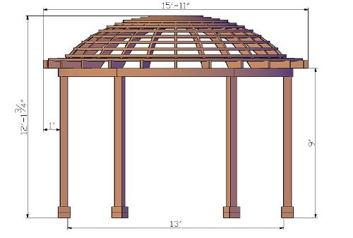 The Dome Pergola Custom Made From Redwood