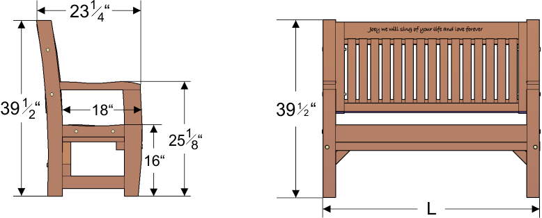 Fabulous Ti Amo Bench Gardenbenches Net Ibusinesslaw Wood Chair Design Ideas Ibusinesslaworg