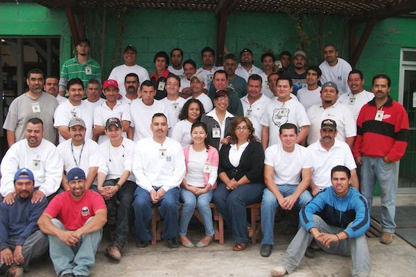 Forever Redwood employees at our Ensenada workshop