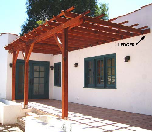 building pergola attached to house