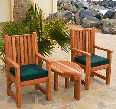 Retro Outdoor Patio Table S Style Wood Table Chairs - Patio furniture redwood city